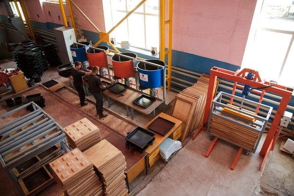 Производство резиновой плитки