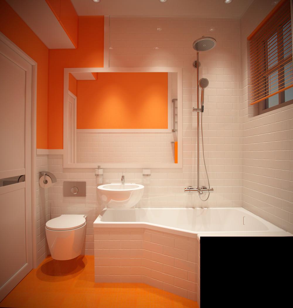 Ванная в оранжевом стиле