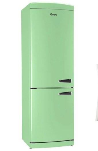 Зеленый холодильник